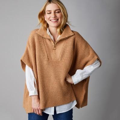 Pončo pulovr