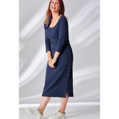 Dlouhé úpletové šaty