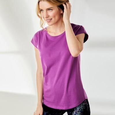 Jednofarebné tričko z bio bavlny, fialkové