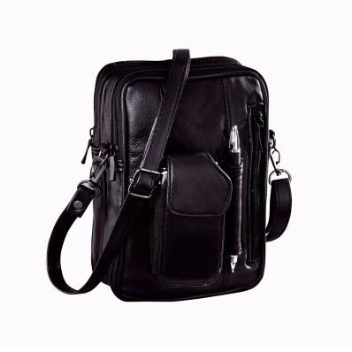 Kožená taška s vreckami