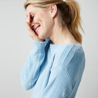 Rovný žinylkový svetr s dlouhými rukávy