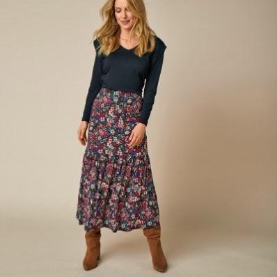 Dlouhá sukně s potiskem květin