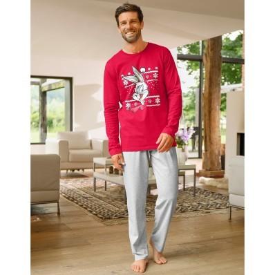 Pyžamo s nohavicami a dlhými rukávmi BUNNY XMAS