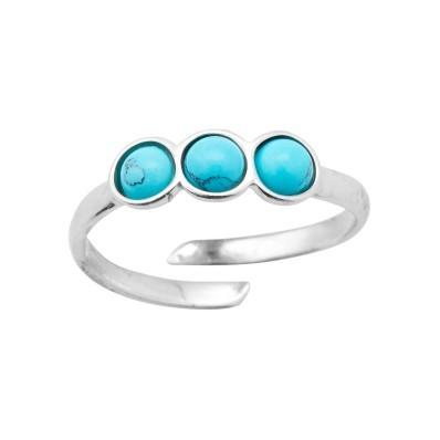 Nastavitelný prsten s tyrkysem