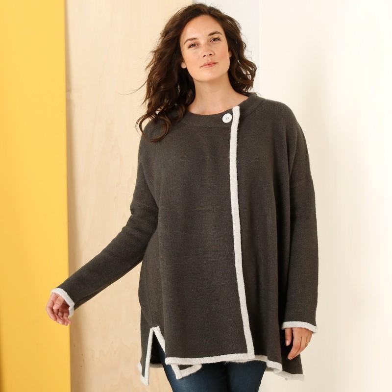 Dvojfarebný sveter