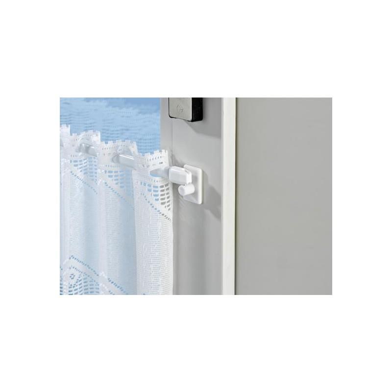 4 držiaky na závesnú tyč, biela
