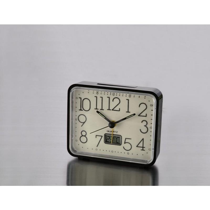 Világító ébresztőóra hőmérővel onerror=