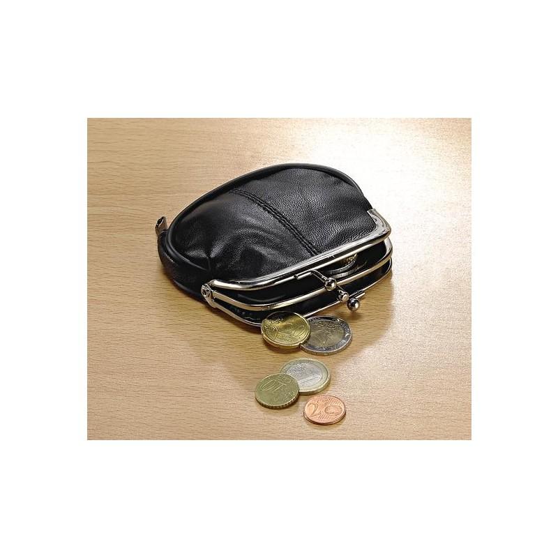 Kožená peněženka, černá onerror=