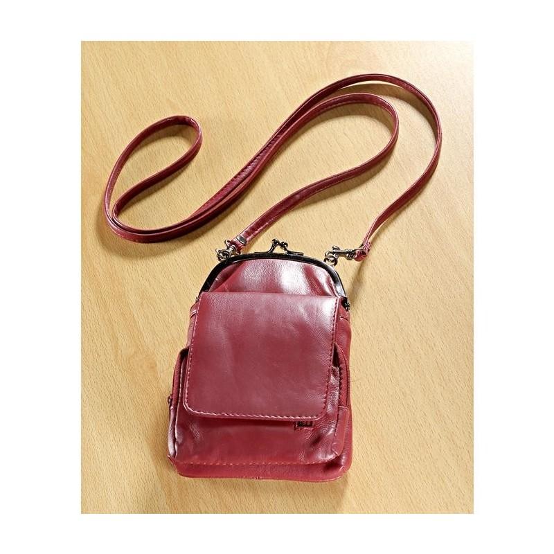 Kožená kabelka, červená onerror=