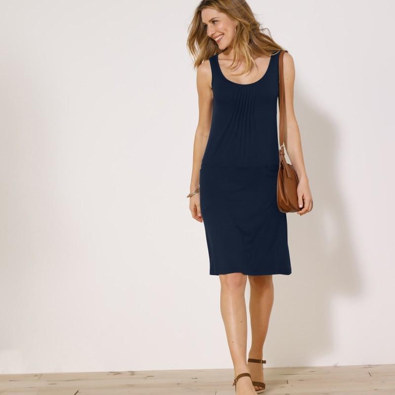 Jednofarebné úpletové šaty