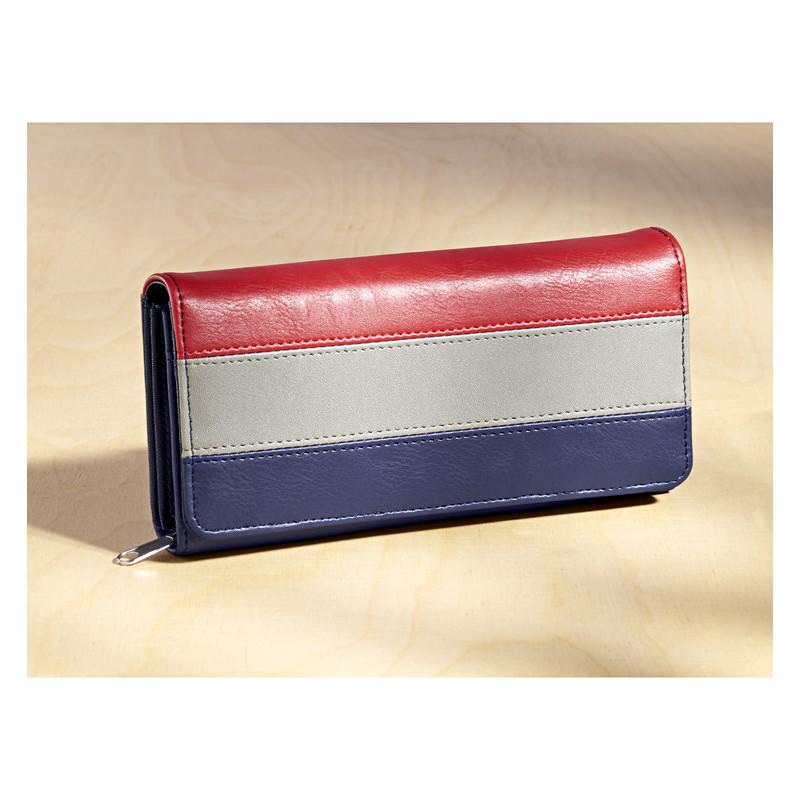 Duży portfel Tricolor onerror=