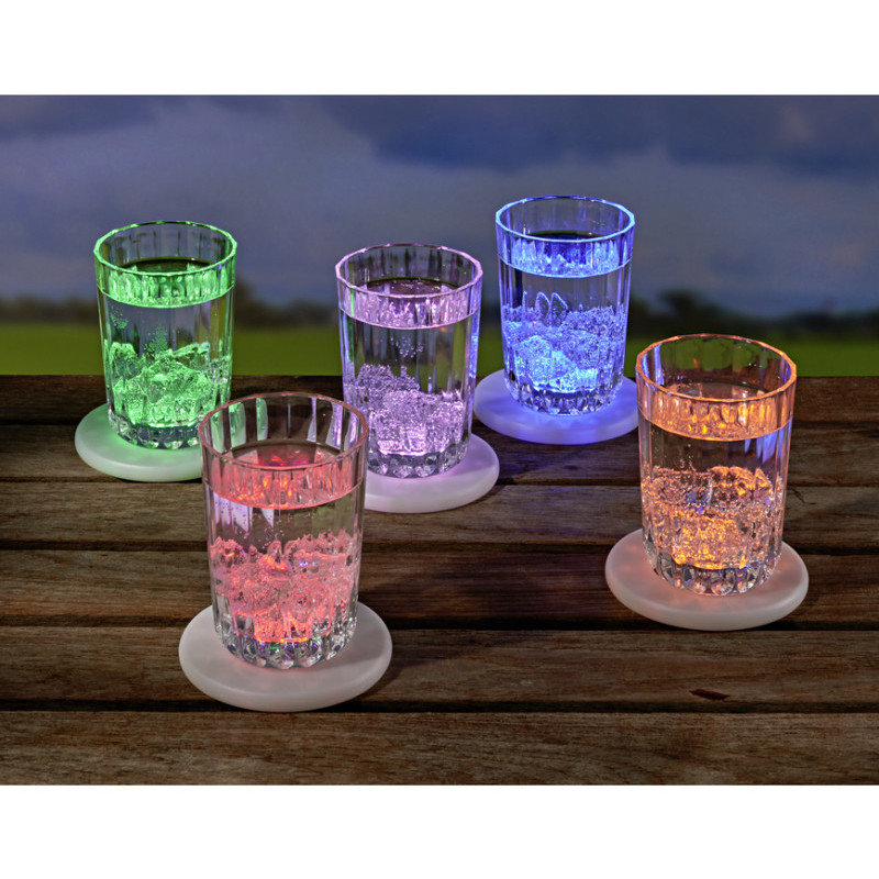 5 LED farebných podložiek
