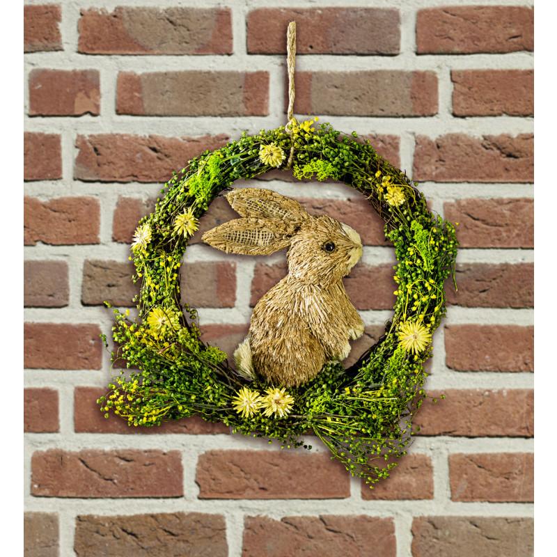 Dekoračný veniec so zajačikom