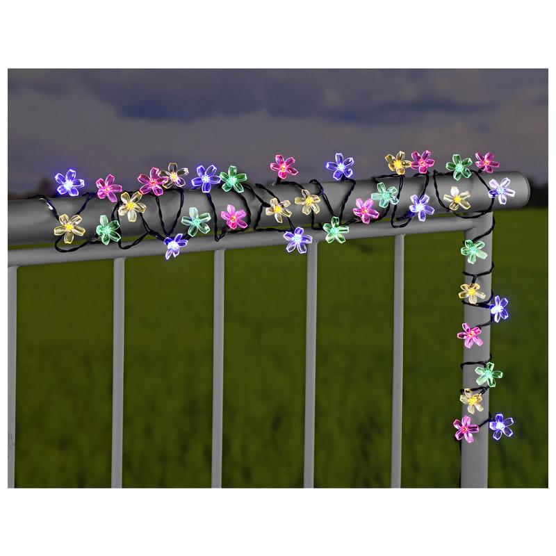 Reťaz so solárnymi kvetmi