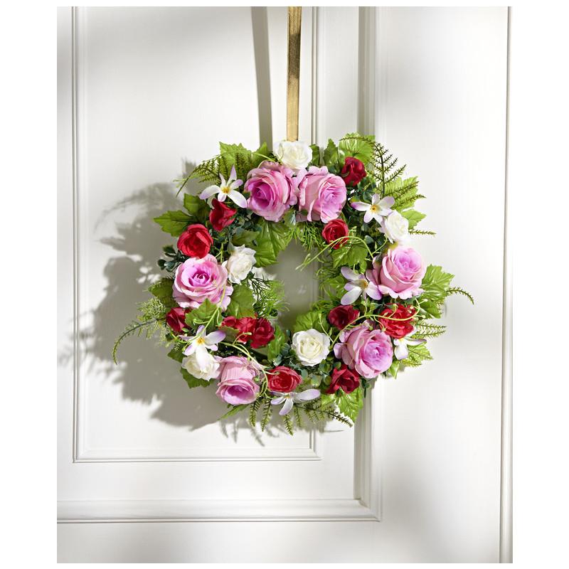 Kvetinový veniec z ruží