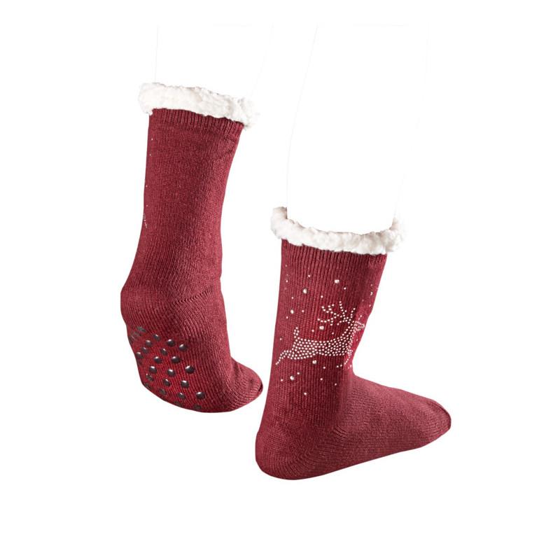 1 pár vánočních ponožek s nopky onerror=