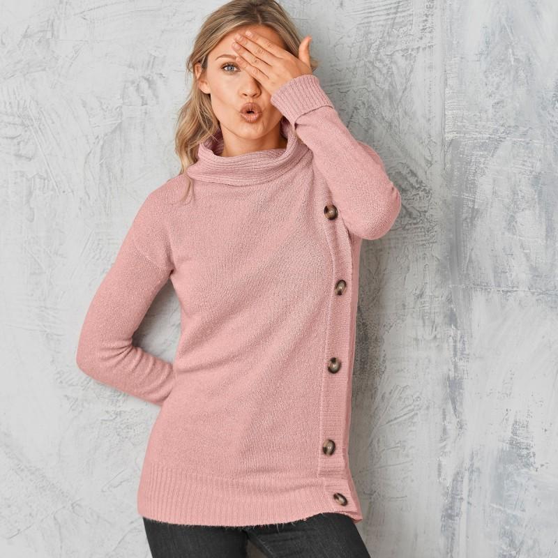 Měkký pulovr s knoflíky