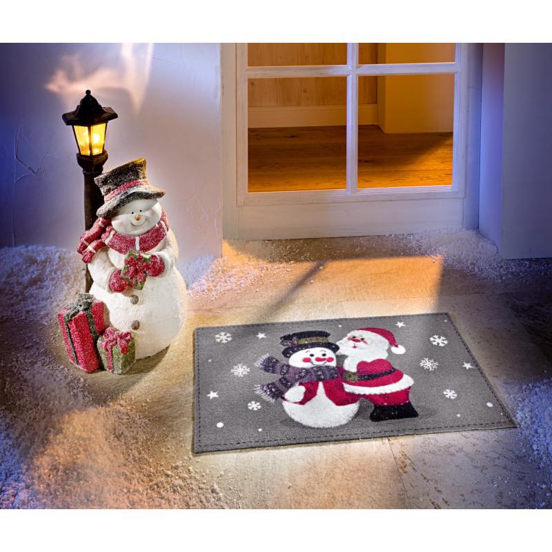 LED lucerna se sněhulákem onerror=