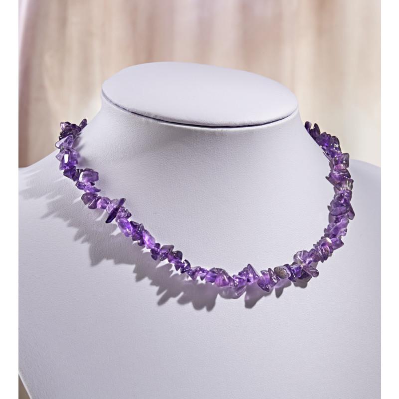 Ametystový náhrdelník onerror=