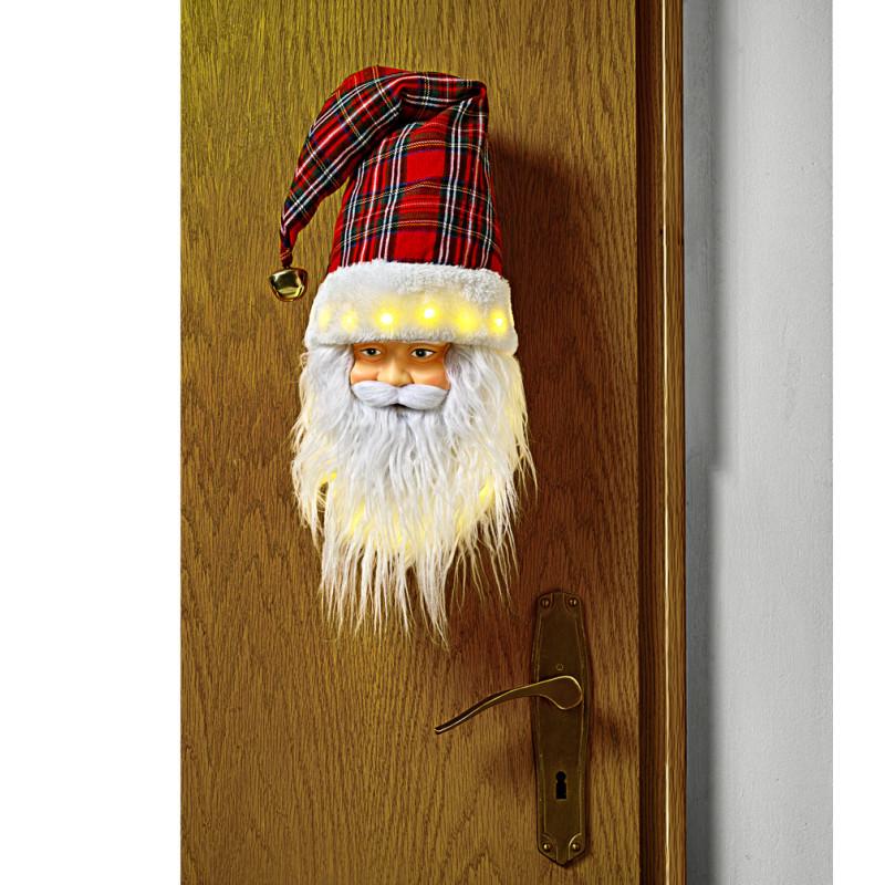 LED hrající hlava Santa Clause onerror=