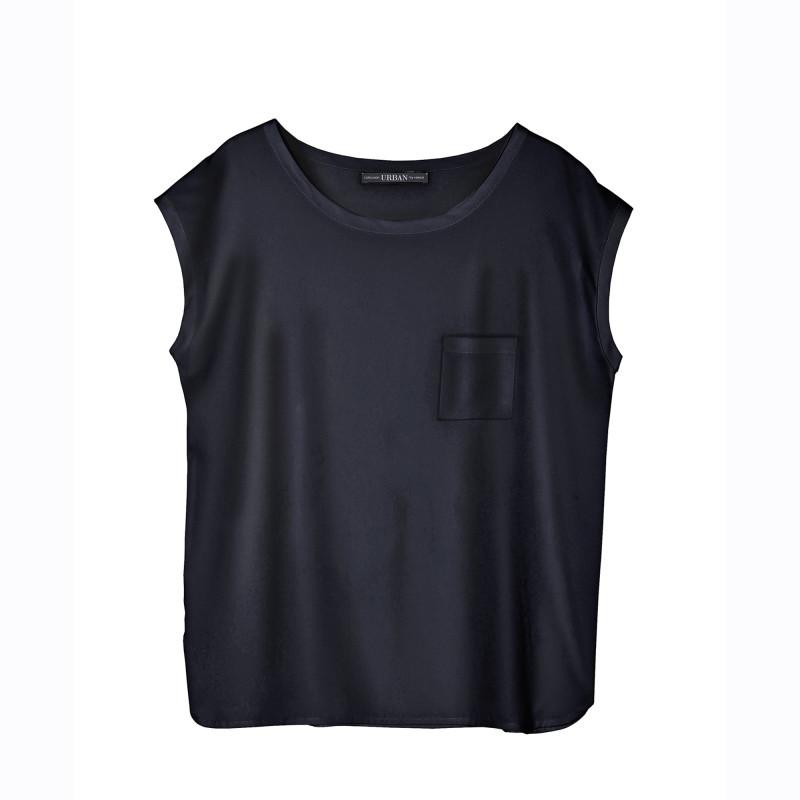 Jednofarebné tričko s krátkymi rukávmi a