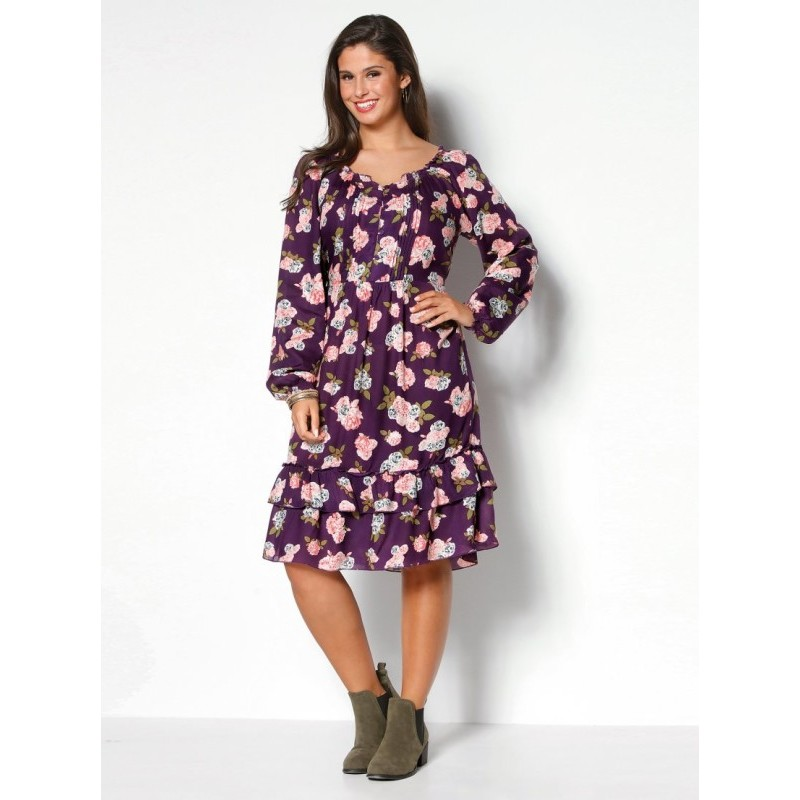 Šaty s potlačou kvetín