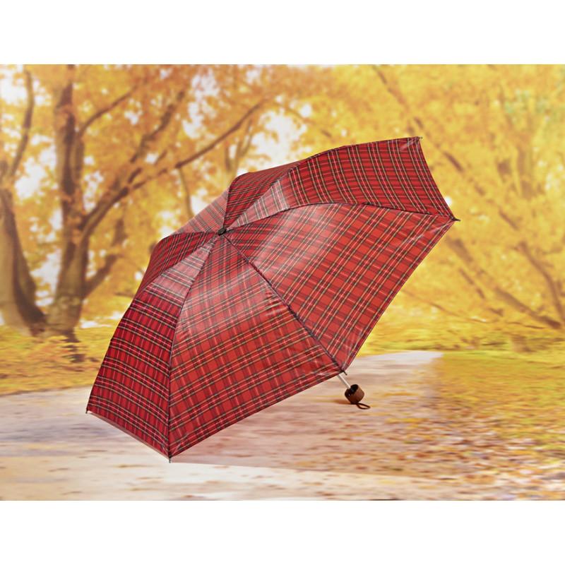 Dáždnik, červená káro