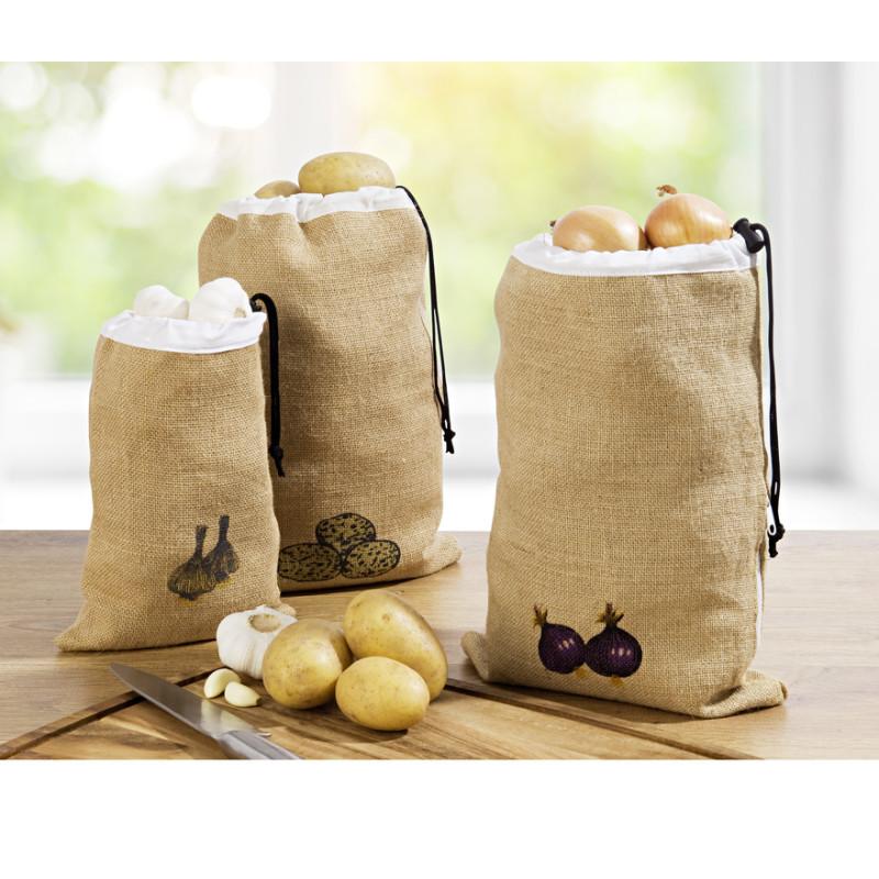 Jutový sáček na brambory onerror=