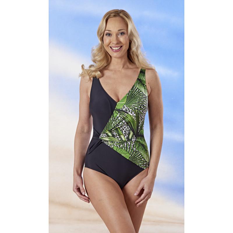 Plavky jednodílné Tropický vzhled onerror=