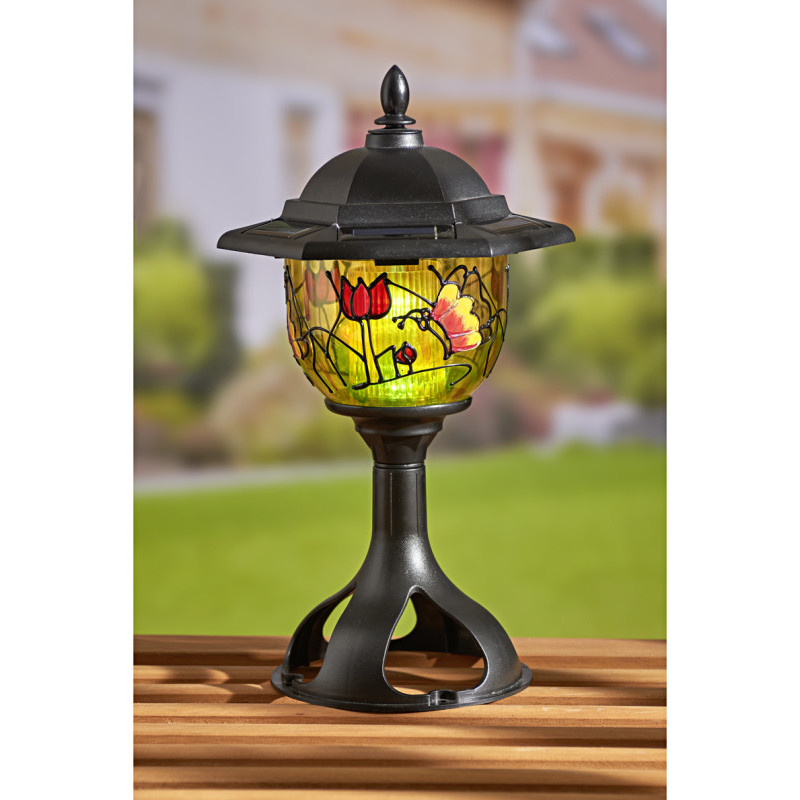 Lampa solarna Tiffany onerror=