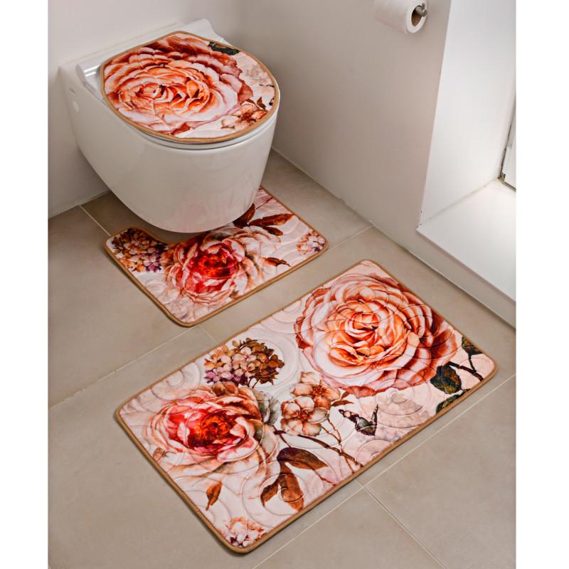 Zestaw mat łazienkowych Róże 3 szt. onerror=