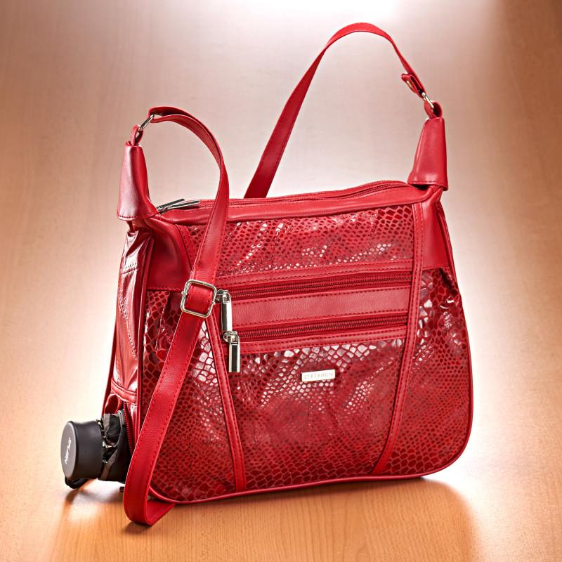 Patchworková kabelka s motivem hadí kůže onerror=
