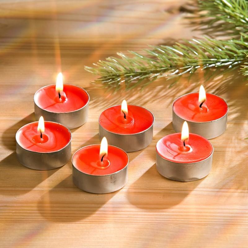 6 čajových sviečok s vôňou jahôd