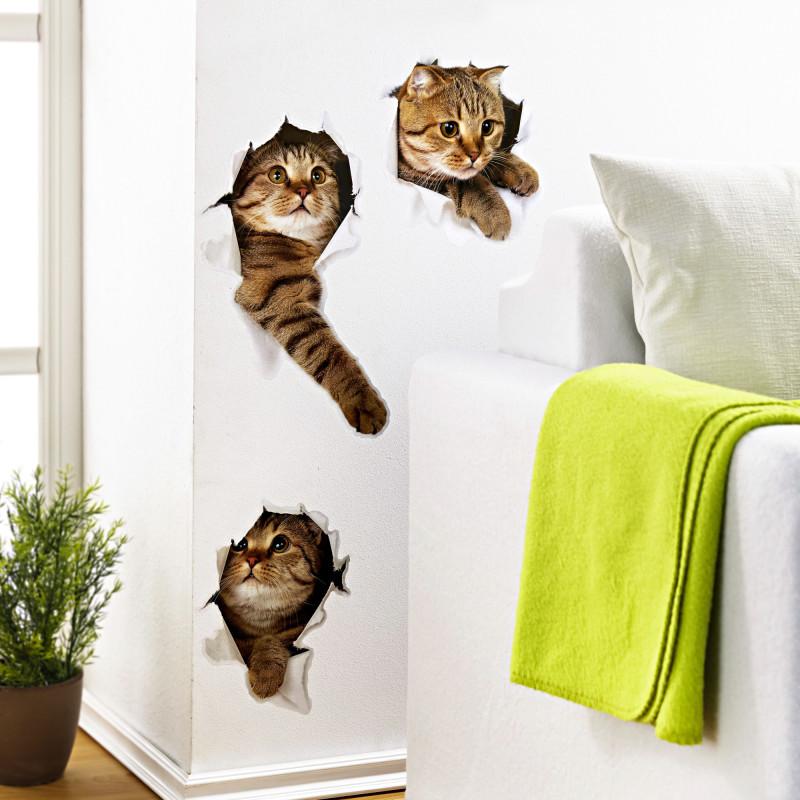 3 samolepky na stenu