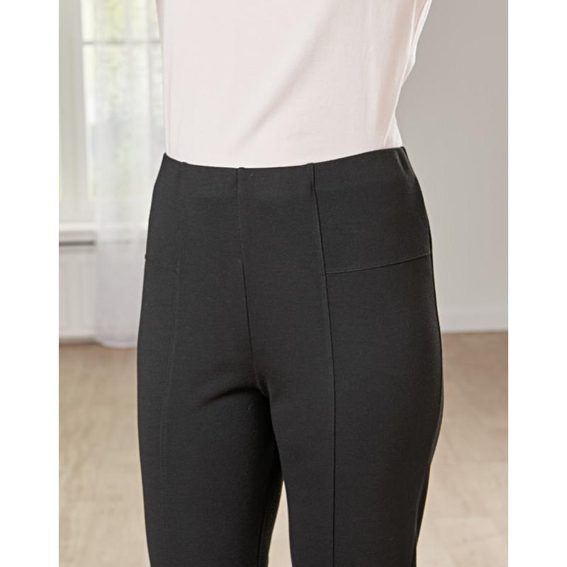 Džersejové nohavice, čierna