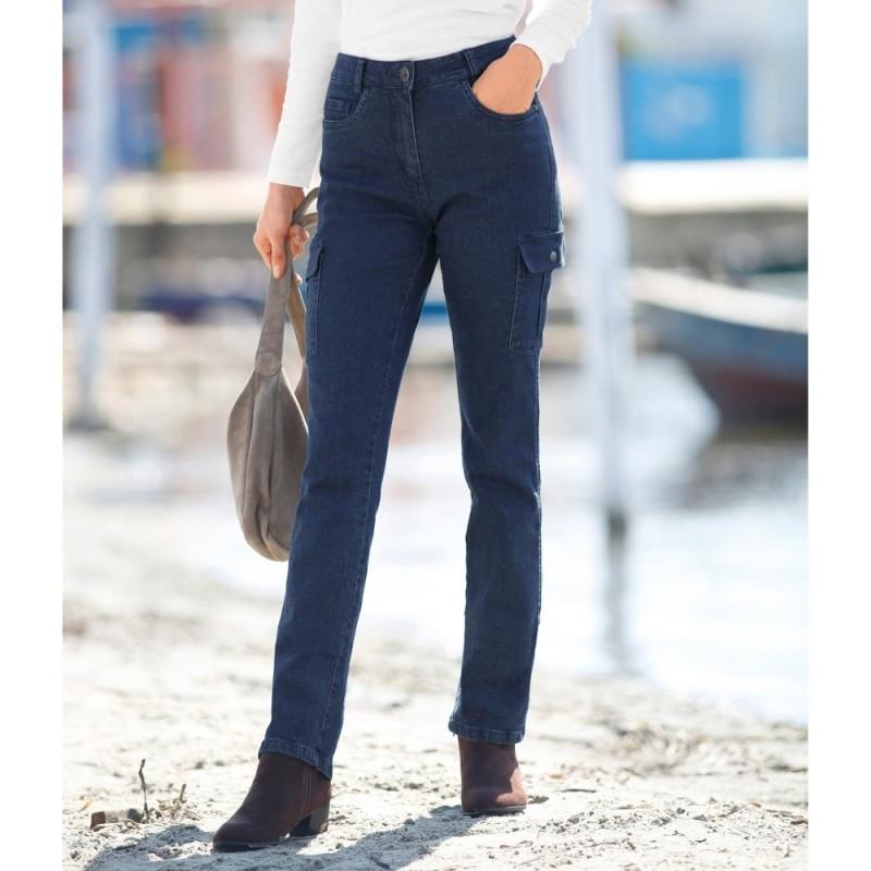 Rovné džíny s kapsami
