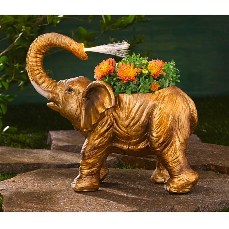 Solárny kvetinový slon