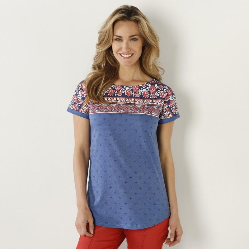 Tričko s potlačou a krátkymi rukávmi
