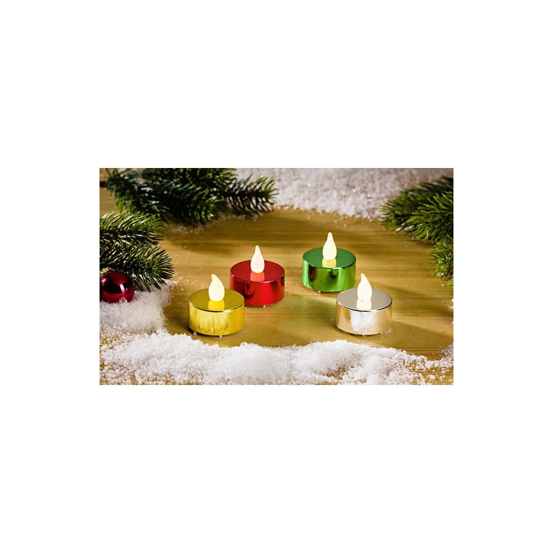 Čajové svíčky metalizované, 4ks onerror=