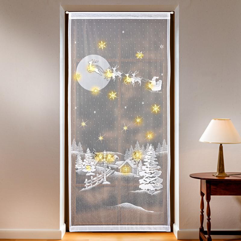 Podświetlana zasłona na drzwi onerror=