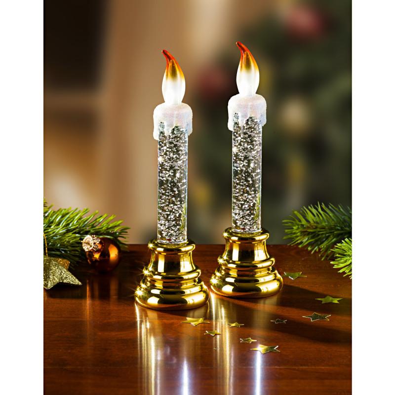 1 LED sviečka, zlatistá