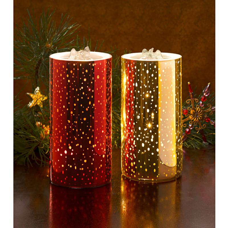 LED svíčka s fontánkou, červená onerror=