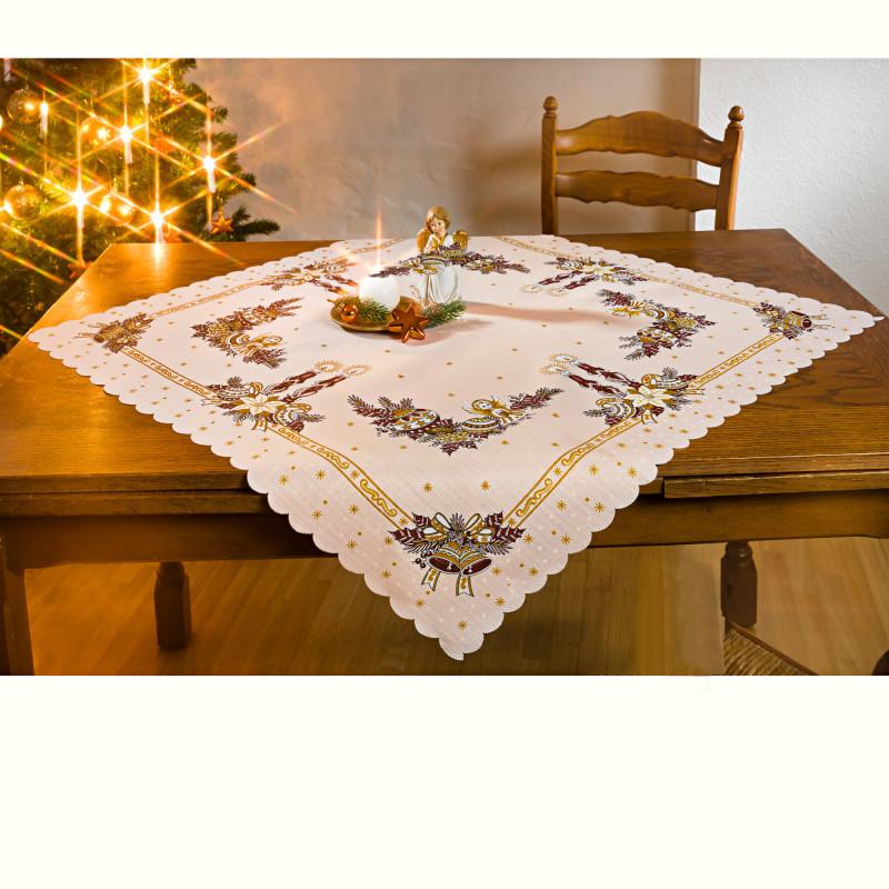 Stredový vianočný obrus, medená