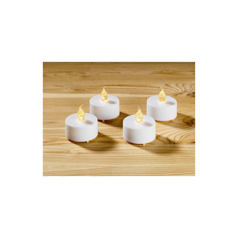 4 čajové sviečky na batérie