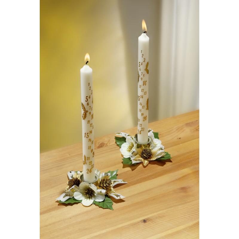 2 adventné sviečky