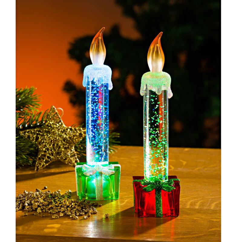 LED svíčka, zelená onerror=