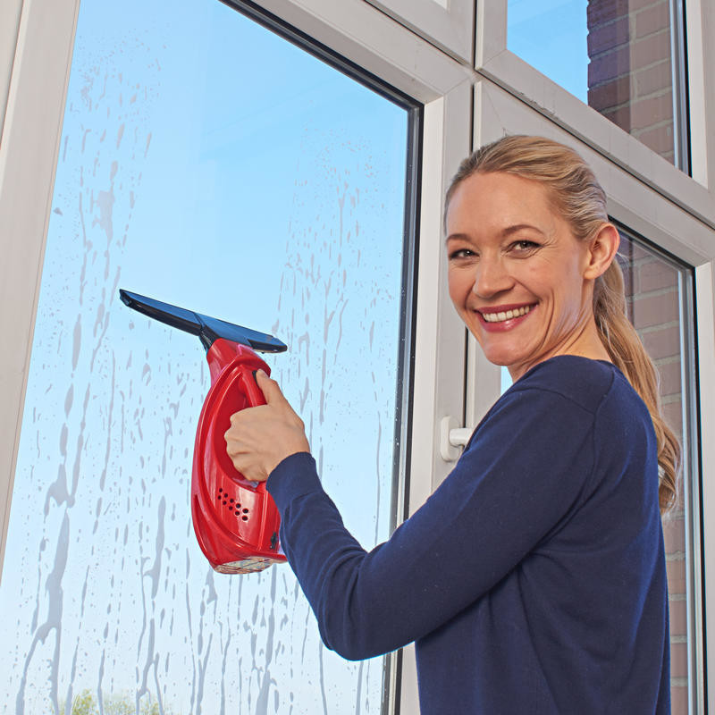 Bezkáblový čistič okien, červená