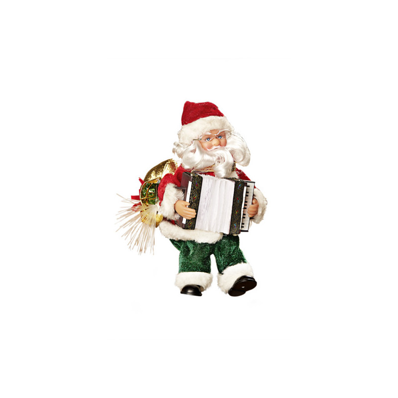 Santa s akordeónom