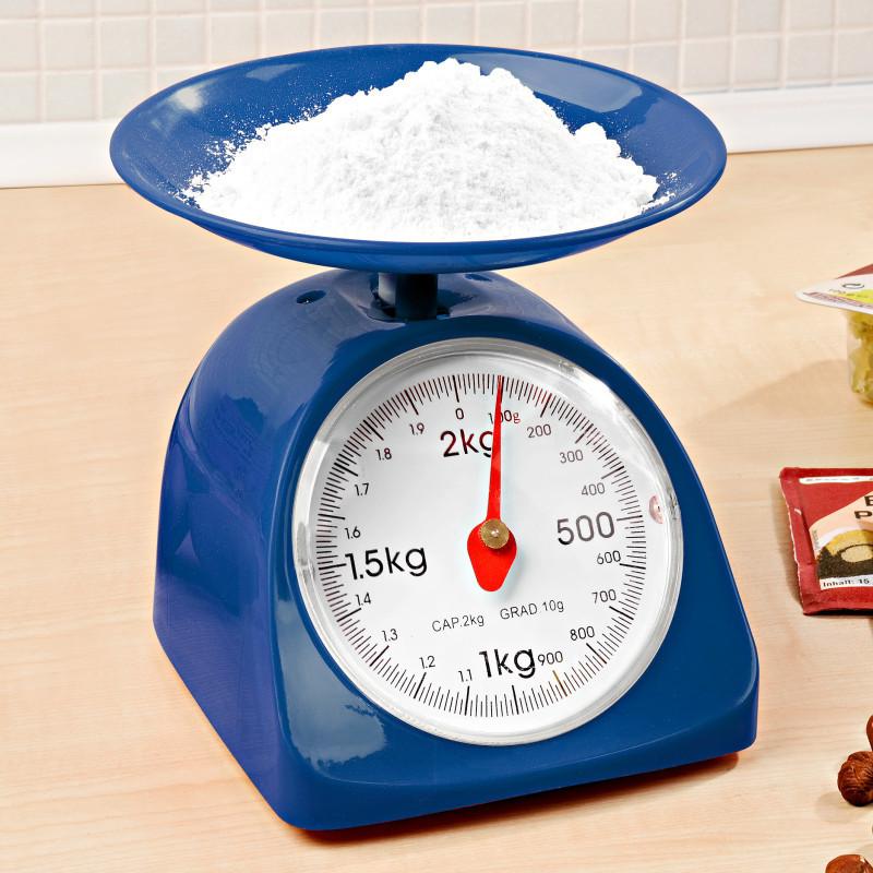 Kuchyňská váha, tmavě modrá onerror=