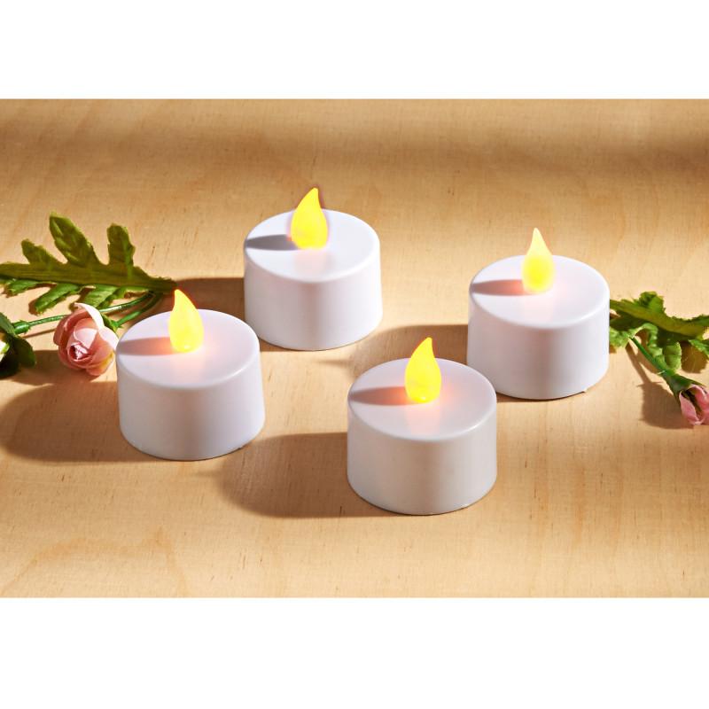 4-dielna súprava LED sviečok